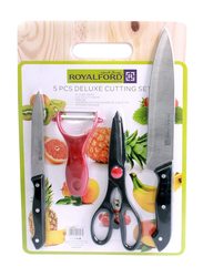 RoyalFord 5-Pieces Deluxe Cutting Set, RF7826, Black/Red