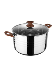 RoyalFord 20cm Stainless Steel Casserole with Lid, RF8546, 20x11.5cm, Silver