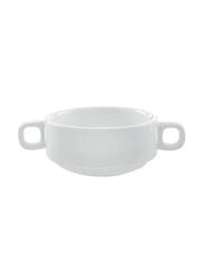 RoyalFord 4.5-inch Porcelain Magnesia Soup Bowl, RF8007, White