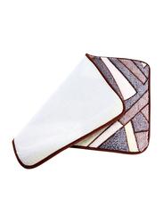 Delcasa Door Mat, 58x40 cm, Brown/Grey/White
