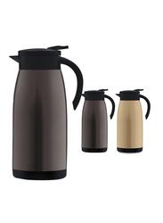 RoyalFord 1.5 Ltr Stainless Steel Vacuum Flask Coffee Pot, RF9701, Beige