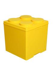 Royalford 4 Circles Block Portable Storage Box, RF9287, Yellow