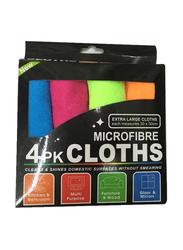 RoyalFord Microfiber Towel Set, 4 Piece, Multicolour