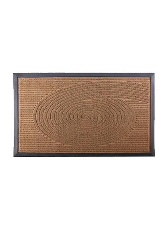 RoyalFord Rectangular Door Mat, 45x75 cm, Brown