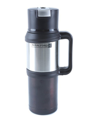 RoyalFord 1.2 Ltr Stainless Steel Double Wall Thermos Flask, RFU9039, Black