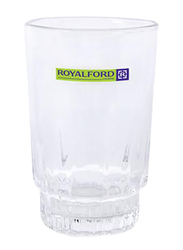 RoyalFord 9oz 6-Pieces Glass Tumbler Set, RF1385-GT6, Clear