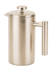 RoyalFord 1000ml Double Wall Stainless Steel French Press Coffee Maker, RFU9016, Silver