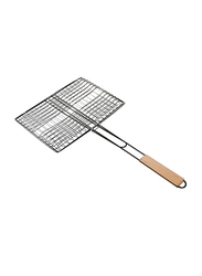 RoyalFord Stainless Steel Barbeque Grill, 33x23 cm, RF9394, Brown