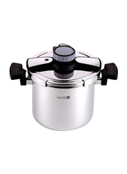 RoyalFord 5 Ltr Stainless Steel Pressure Cooker, RF7604, Silver