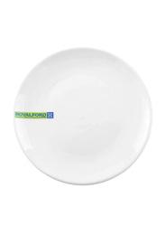 Royalford 8-inch Magnesia Porcelain Dinner Plate, RF7991, White