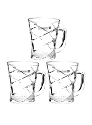 Royalford 8oz 3-Piece Glass Cup Set, RF9648, Clear