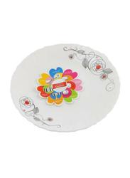 Royalford 7.5-inch Liza Opal Ware Dessert Plate, RF6738, White