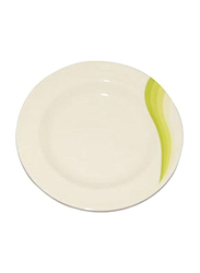 RoyalFord 10-inch Melamine Ware Super Rays Round Flat Plate, RF8023, Green/White