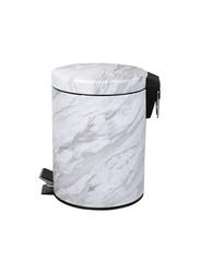 RoyalFord Marble Design Dust Bin, 5 Liters, White