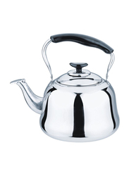 RoyalFord 1 Ltr Gas Stainless Steel Whistling Kettle, RF9564, Silver