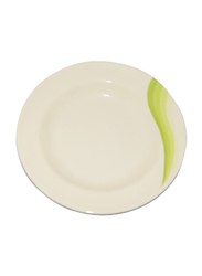 RoyalFord 10-inch Melamine Ware Super Rays Round Deep Plate, RF8022, Green/White
