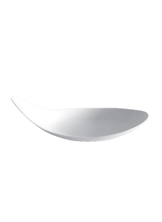 Royalford 7-inch Stackable Wide Design Classic Porcelain Boat Shape Serving Bowl, RF8440, White