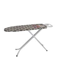Delcasa Self Standing Foldable Ironing Board, 38x120cm, White/Grey