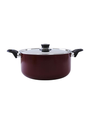 RoyalFord 26cm Non-Stick Aluminium Cookware with Lid, RF391C26, Red