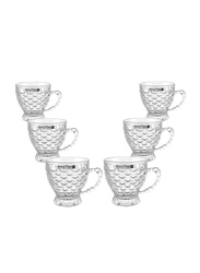 Royalford 150ml 6-Piece Glass Cup Set, RF9647, Clear