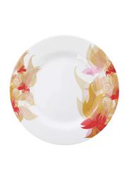 Royalford 8-inch Flower Carnival Pattern Melamine Ware Soup Plate, RF5100, White