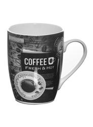 Delcasa 12oz New Bone China Bullet Coffee Mug, DC1437, Black/White