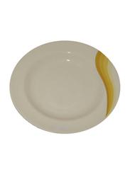 RoyalFord 10-inch Melamine Ware Super Rays Round Deep Plate, RF8041, Orange/White