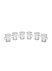 Royalford 150ml 6-Piece Lemon Glass Cups, RF9685, Clear