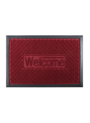 RoyalFord Rectangular Door Mat, 40x60 cm, Red/Black