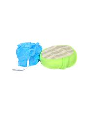 Delcasa Bath Sponge and Puff, 2 Pieces