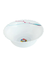 Royalford 5-inch Art Flower Design Opal Ware Soup Bowl, RF8877, White