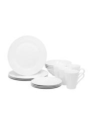 Royalford 16-Piece Porcelain Dinnerware Set, RFU9051, White