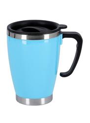 Delcasa 420ml Stainless Steel Travel Mug, DC1780, Blue/Black
