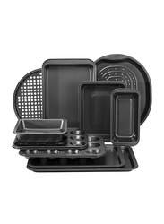 Royalford 10-Piece Bakeware Set, 59 x 45.5 x 36cm, Black