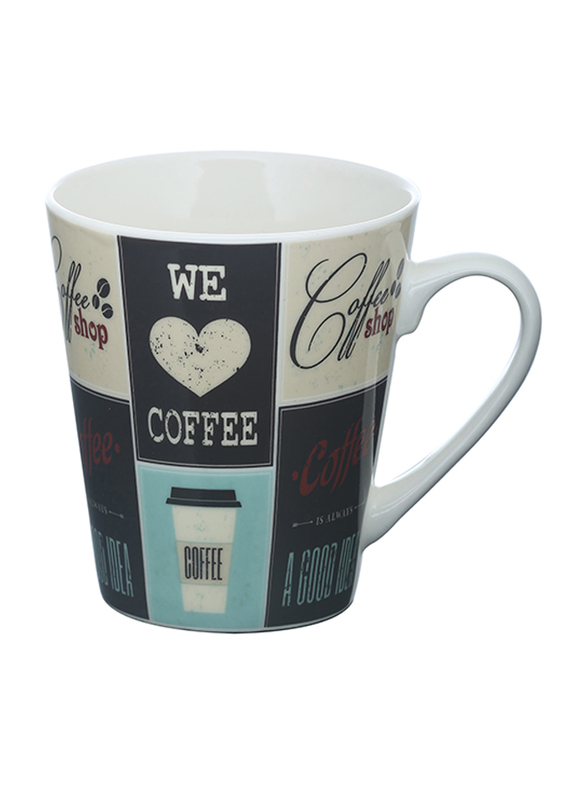 Delcasa 11oz New Bone China V-Shape Coffee Mug, DC1439, Multicolor
