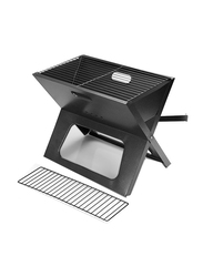 RoyalFord Portable Iron Foldable Barbeque, RF9764, Black