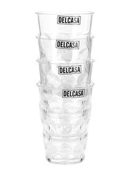 Delcasa 270ml 4-Piece Plastic Cup Set, DC1757, Clear