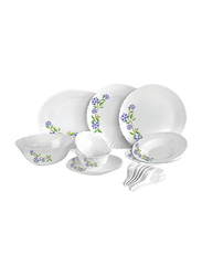 RoyalFord 33-Pieces Opal Ware Dinnerware Set, RF8982, White