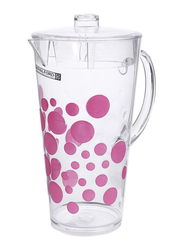 Royalford 2.3 Ltr Polystyrene Pitcher, RF9809, Clear/Red