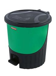 Delcasa Easy Garbage Pedal Bin, 8.5 Liters, Green/Black