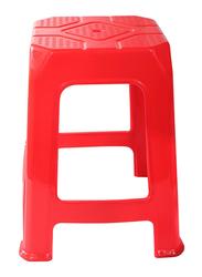 Delcasa Long Lasting Durable Plastic Stool, DC1642, Red