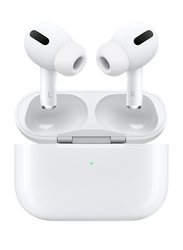 Apple AirPods Pro Wireless In-Ear Noise Cancelling Earbuds with Mic and Wireless Charging Case, White