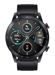 Honor MagicWatch 2 46mm Smartwatch, GPS, Silver Aluminum Case with Charcoal Black Band