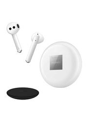 Huawei FreeBuds 3 Wireless In-Ear Noise Cancelling Earphones, Ceramic White