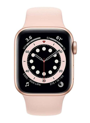 Apple Watch Series 6 - 40mm Smartwatch, GPS, Gold Aluminum Case with Pink Sand Sport Band