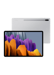 Samsung Galaxy Tab S7 128GB Mystic Silver 11-inch Tablet, 6GB RAM, Wi-Fi + 4G LTE, UAE Version