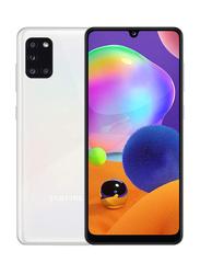 Samsung Galaxy A31 128GB Prism Crush White, 6GB RAM, 4G LTE, Dual Sim Smartphone, UAE Version