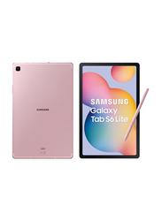 Samsung Galaxy Tab S6 Lite 64GB Chiffon Pink 10.4-inch Tablet with Pen, 4GB RAM, 4G LTE, UAE Version
