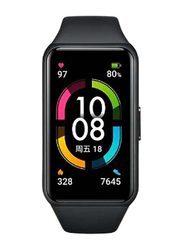 Honor Band 6 Smartwatch with Blood Oxygen and Heart Rate Monitor, Meteorite Black