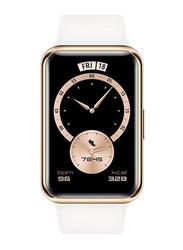 Huawei Elegant Edition Watch Fit 46mm Smartwatch, GPS, Frosty White